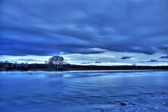 Wieczór rzeka Zdjęcie Royalty Free