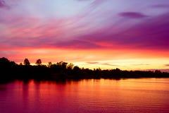 wieczór słońca zmierzch Obrazy Royalty Free