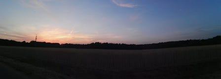 Wieczór słońce Obraz Royalty Free