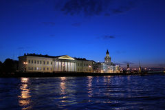 Wieczór St Petersburg, Rosja Obraz Royalty Free