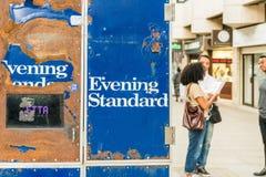 Wieczór standard, bezpłatny dziennik Obraz Royalty Free
