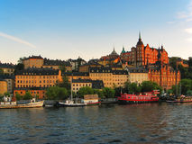 wieczór Stockholm obrazy stock