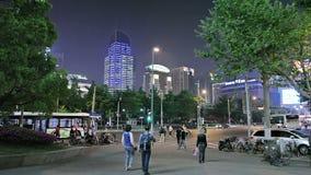 Wieczór ulicy Szanghaj zbiory