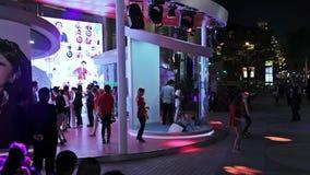 Wieczór ulicy Szanghaj zdjęcie wideo