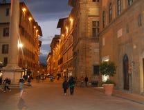 Wieczór w Florencja Fotografia Stock