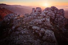 Wieczór w górach Zdjęcia Stock