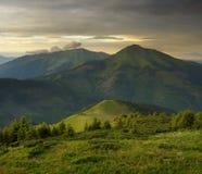 Wieczór w górach Obrazy Royalty Free