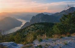 Wieczór w górach Montenegro Zdjęcie Royalty Free