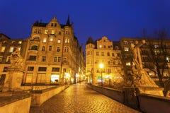 Wieczór w Klodzko, Polska fotografia stock
