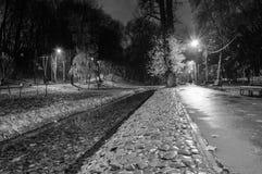 Wieczór w miasto parku zdjęcia stock