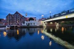 Wieczór w mieście Bydgoski zdjęcie royalty free