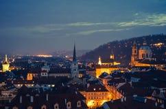 Wieczór w Praga, republika czech, Europa obrazy royalty free