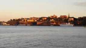Wieczór w Sztokholm Zdjęcia Stock