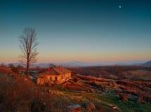 Wieczór w wiosce Fotografia Stock