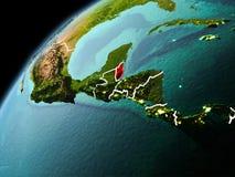 Wieczór widok Belize na ziemi Zdjęcie Royalty Free
