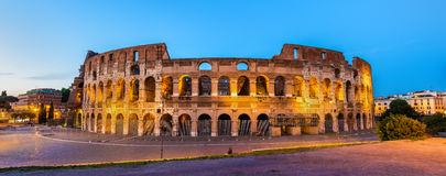Wieczór widok Colosseum w Rzym Fotografia Stock