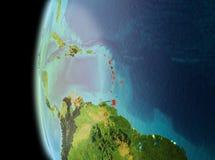 Wieczór widok Karaiby na ziemi Obrazy Royalty Free