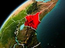 Wieczór widok Kenja na ziemi Obraz Royalty Free