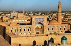 Wieczór widok Khiva zdjęcia royalty free