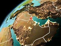 Wieczór widok Kuwejt na ziemi Obrazy Stock