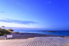 Wieczór widok na morzu Fotografia Stock