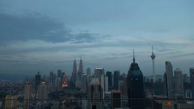 Wieczór widok nad Kuala Lumpur, Malezja zdjęcie stock