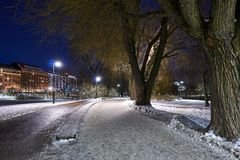 Wieczór widok od parka w Helsinki zdjęcie royalty free