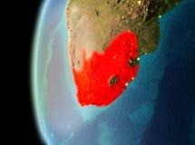 Wieczór widok Południowa Afryka na ziemi Obrazy Royalty Free