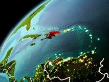 Wieczór widok republika dominikańska na ziemi Fotografia Stock