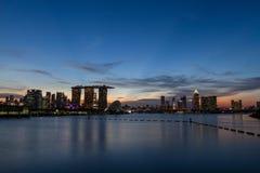 Wieczór widok Singapur obraz royalty free