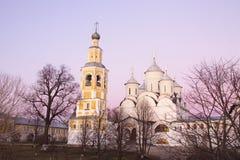 Wieczór widok Spaso-Prilutsky Dimitriev monaster Vologda Srebny pierścionek Rosja fotografia royalty free