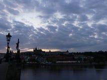 Wieczór widok Stary miasteczko Obraz Stock
