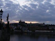 Wieczór widok Stary miasteczko Obrazy Royalty Free