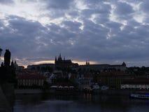 Wieczór widok Stary miasteczko Zdjęcie Royalty Free