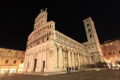 Wieczór widok stary miasteczko Lucca fotografia stock