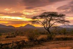 Wieczór widok terytorium plemię Bana Zdjęcie Royalty Free