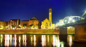 Wieczór widok Tortosa, Hiszpania Zdjęcie Royalty Free