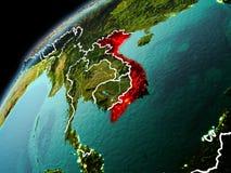 Wieczór widok Wietnam na ziemi Zdjęcia Stock