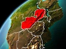 Wieczór widok zambiowie na ziemi Fotografia Royalty Free