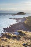 wieczór wyspa zaświeca słońce pływowego obrazy royalty free