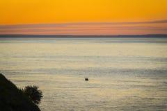 Wieczór zmierzch na morzu Zdjęcia Royalty Free