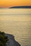 Wieczór zmierzch na morzu Obraz Royalty Free