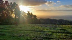 Wieczór zmierzch nad dartmoor parkiem narodowym Obraz Royalty Free