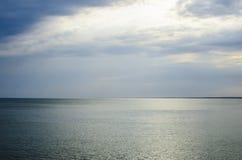 Wieczór zmierzch przy morzem Fotografia Stock