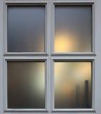 Wieczór zmierzchu miasta okno Zdjęcie Stock