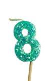 świeczek 8 urodzinowych liczb Zdjęcia Royalty Free