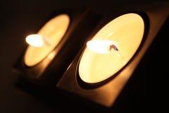 świeczka biel Obrazy Royalty Free