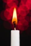 świeczka biel zdjęcie royalty free