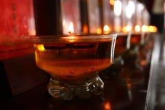 Świeczka cisza Zdjęcia Royalty Free