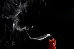 świeczka dym Zdjęcie Royalty Free